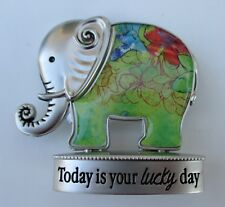 L Today is your lucky day Lucky Elephant Figurine miniature Ganz