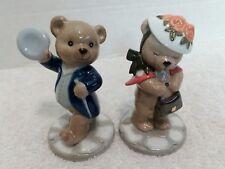 Bing & Grondahls Teddy Bear Figurines Victor & Victoria 1998