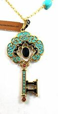 Jay Strongwater Merrill Key Chain Pendant Necklace Turquoise