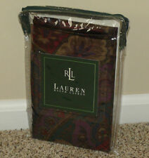 NEW Ralph Lauren SOCIALITE PAISLEY Dark Red Purple Regal KING PILLOW SHAM (1)