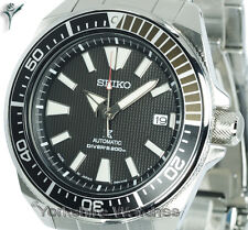 New Seiko Prospex Samurai Black Dial With Stainless Steel Bracelet SRPB51J1
