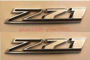 2pcs 2019-2020 NEW Chrome&Black Z71 Emblem 19-20 Chevrolet Silverado Badge Decal