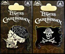 Disney Parks 2 Pin Lot PIRATES OF CARIBBEAN Skull + Flag Dead Men Tell No Tales