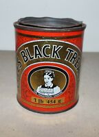 VINTAGE LYLE'S BLACK TREACLE TIN TATE & LYLE REFINERIES 1 lb 454 g