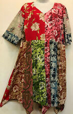 Nwt FUNKY STUFF patch boho hanky soft rayon TOP TUNIC DRESS 3X 26W Free shipping