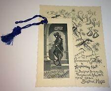 Rare Antique Victorian American Mass College of Pharmacy Graduation Program 1888