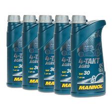 5 (5x1) Liter MANNOL 4-Takt Agro SAE 30 Rasenmäheröl, Maschinenöl