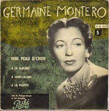 "GERMAINE MONTERO ""NINI PEAU D'CHIEN"" 50'S EP PATHE 182"