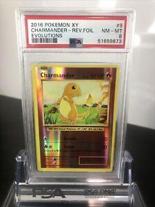 PSA 8 2016 Pokemon XY Evolutions Charmander Reverse Holo Foil 9/108