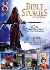 Bible Stories Collection: 8 Movies (DVD, 2013, 2-Disc Set) The Ten Commandments