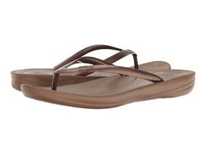 Women's Shoes FitFlop iQUSHION ERGONOMIC Flip Flop Thong Sandals E54-012 BRONZE