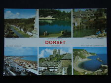 Dorset Milton Abbas Blue Pool Mill Pond Corfe Castle c1970's Postcard (P234)