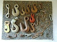 "Mixed Lot Of Over 5 Lbs.Of Chain Hooks,Other Misc.Items "" GREAT ASSORTMENT """