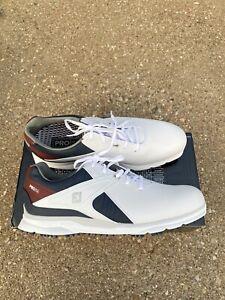 FootJoy Pro SL Golf Shoes 53848 White/navy/maroon Men's Size 10.5 M Waterproof