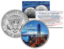 Official WTC * 15th Anniversary * Kennedy JFK Half Dollar Coin 9/11 World Trade