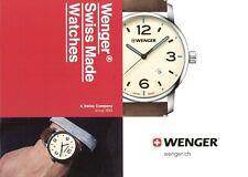 Wenger Uhrenkatalog 2017 2018 D Prospekt Uhren catalog watches catalogue montres