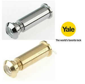 Yale Door Viewer Suitable For Wooden Doors Chrome / Polished Brass P-9401