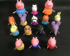 15PCS Peppa pig George Family & Friends Figures toys Birthday Gift NEW