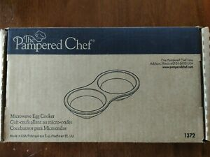 Pampered Chef Stoneware Microwave Egg Cooker #1372 NEW IN THE BOX