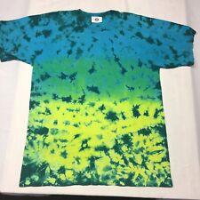Tye-Dye Blue Green XL T-shirt Hippie Deadhead Festival Rainbow Colorful