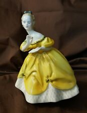 Royal Doulton England Figurine Hn2315 The Last Waltz 1965 Lady In Yellow Dress