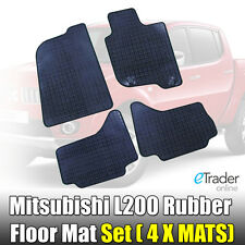 Heavy-Duty Rubber Floor Mats for Mitsubishi L200 2006-2015 Tailored Fit Mat Set