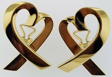 TIFFANY & CO.~Paloma Picasso~LOVING HEART EARRINGS~Solid 18Kt. Gold~EXTRA LARGE~