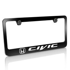 Honda Civic Black Metal License Plate Frame