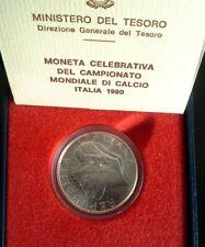 Italia Repubblica 1990 500 Lire Argento Camp. Mondiali Calcio F.D.C. Conf. Zecca