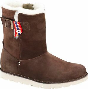 Birkenstock Westford Lammfell gefüttert Espresso Damen Stiefel Boots Gr 37 - NEU