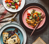 Ceramic Dinner Plate Tableware Round Solid Dish Simple Salad Cutter Dinnerware