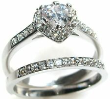 Diamond Heart Engagement Costume Rings
