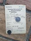 Vorläufige Betreuungskarte für Fliegergeschädigte/Flüchtlinge 14.4.1945