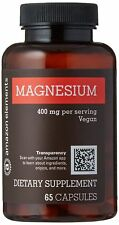 Amazon Elements Magnesium 400 mg Transparency 65 Capsules- BB 05/19- US Seller