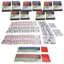 10x Pokerkarten 100% Plastik mit Cut-Card 4 große Eckzeichen Jumbo Index suplaya