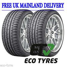 2X Tyres 245 50 R18 100Y Continental ContiSportContact 3 RFT Run Flat SSR FB72dB