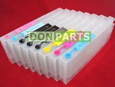 Chip Resetter + 8 Pack Refillable Ink Cartridges For Stylus Pro 4000 300ml