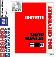1982 Chevrolet Corvette Shop Service Repair Manual CD