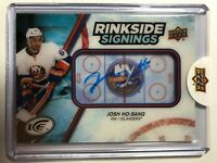 2017-18 Upper Deck Ice Rinkside Signings Josh Ho-Sang Rookie Auto