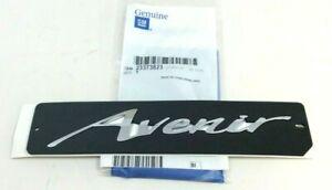 Buick Lacrosse Enclave Avenir front door silver Nameplate Emblem OEM 2337382