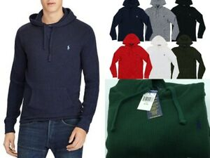 Polo Ralph Lauren Mens Waffle Knit Hoodie, Pullover Hoodie, Big & Tall, S/M/L/XL