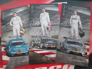 DTM Mercedes Benz Cards Set of 3 Postcards Promo Merhi Paffet Vietoris C- Coupe
