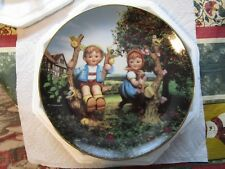 Signed M.J. Hummel [The Danbury Mint] Little Companions Collectors Plate ~Lovely