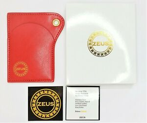 ZEUS Brand Card Holder Slim Wallet Red Luxury Car Keys Thin Leather Faux ZEUS