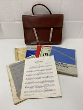 Vintage Sheet Music Bag & Sheet Music For Flute & Piano