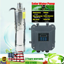 3 Dc Solar Water Pump Submersible Deep Bore Well 24v 270w With Mppt Controller