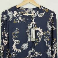 [ SUSSAN ] Womens Long Sleeves Exclusive Print Blouse NEW | Size AU 12 or US 8