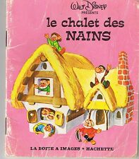 Le chalet des nains * mini livre Hachette Walt DISNEY La boîte à images