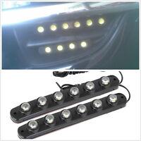 6LED White Super Bright Cars DRL Daytime Light Running Lamps Strips For Daihatsu