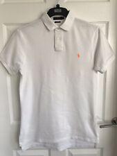 Ladies White Polo Ralph Lauren Short Sleeved Polo Shirt/Top - Size Medium